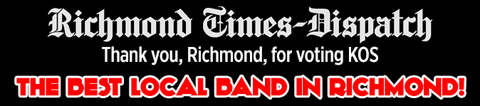 Thank you, Richmond, for voting KOS the Best Local Band in Richmond!